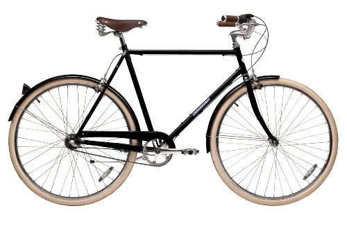 Papillionaire Classic 3 Speed Vintage City Bike, Black, 20.5-Inch/One Size