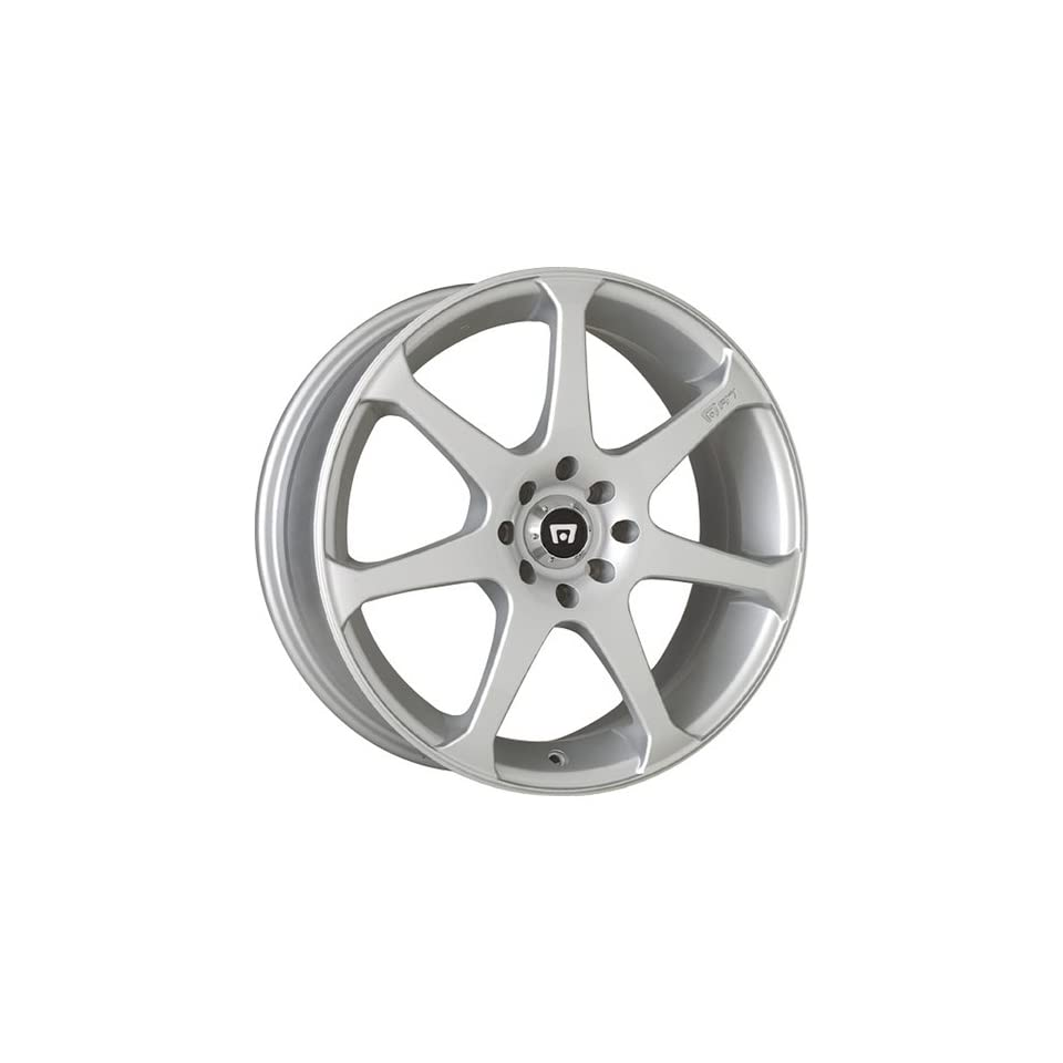 Motegi MR7 17x7 Silver Wheel / Rim 4x100 & 4x4.5 with a 40mm Offset and a 72.70 Hub Bore. Partnumber MR20737716