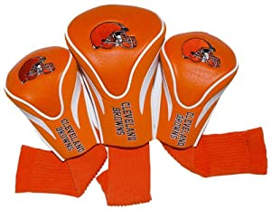 NFL Cleveland Browns 3 Pack Contour Fit Headcover by Team Golf