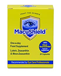 Macushield with Meso-Zeaxanthin for macular health 30 Capsules by Macuvision