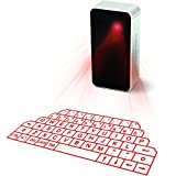 Mini Wireless Projection Virtual Bluetooth Laser Keyboard for Smart phone PC Tablet Laptop (Color: Silver)