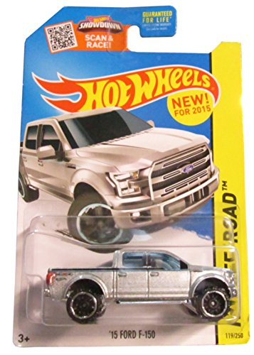 Hot Wheels, 2015 Off-Road, '15 Ford F-150 [Silver] Die-Cast Vehicle #119/250