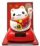 ソーラーまるまる幸せ招き猫・赤