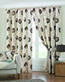 Dreams 'n' Drapes Membury 3 inch Lined Curtains, Chocolate, 46x90
