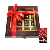 Chocholik Belgium Chocolate Gifts - Decadent Flavors In A Beautiful Wooden Box With 3d Mobile Cover For IPhone...
