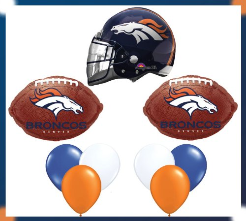 Denver Broncos Party Brown NFL Football Balloon Set at Amazon.com
