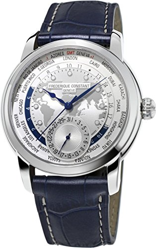 Frederique Constant Geneve Worldtimer Manufacture FC-718WM4H6 Reloj Automático para hombres Calibre de Manufactura