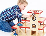 Wooden Toy Garage / Car Park & Petrol Station with Lift