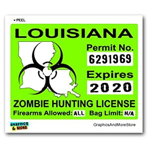 Louisiana la zombie hunting license permit for Fishing license in louisiana