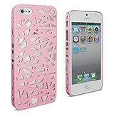 Lumii Ark Rubberized Hard Case for Apple iPhone 5 - Bird Nest (Light Pink)