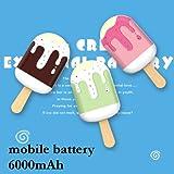 アイス アイスキャンディー モバイルバッテリー モバイルチャージャー 充電器 ポータブル スマホ i phone Apple アップル Android アンドロイド タブレット 大容量 軽量 おしゃれ かわいい キュート Felicita'AAP 6000mAh