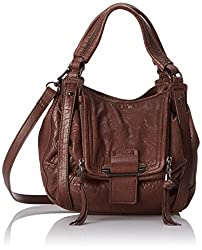 Kooba Handbags Mini Jonnie Soft Glazed Cross Body Bag, Chocolate Brown, One Size