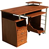 Merax Home and Office Two Drawer Computer Desk (Walnut)