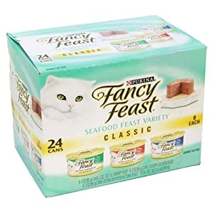 #1 Fancy Feast Gourmet Variety Pack (24/3-oz cans)