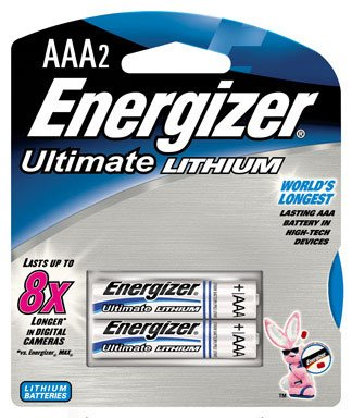 Energizer Lithium Batteries Size Aaa Blister Pack 2