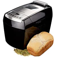 Andrew James 890W Automatic Dual Blade Bread Maker In Black, With 13 Functions Including Gluten Free, Delay Timer + Ingredients Dispenser - 2 Year Warranty