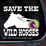SAVE THE WILD HORSES Mustang Vinyl Decal Sticker