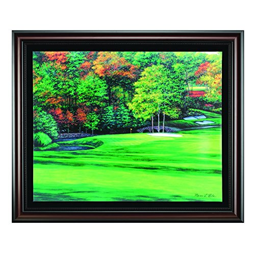 Golf gifts gallery augusta 11 framed canvas art for Augusta national wall mural