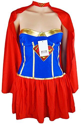 [Laolaooo Design Deluxe Supergirl Adult Costume RedMedium Hot Design] (Supergirl Costumes Plus Size)