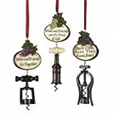 Kurt Adler 5-1/2-Inch Tuscan Antique Bottle Opener Ornaments, Set Of 3