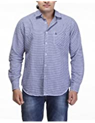 Sting Blue Checks Slim Fit Casual Shirt - B00RRUKU9C