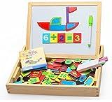 Happy cherry - (2 en 1)Pizarra + Puzzle Magn�tico - Tabla de ense�anza de Matem�ticas - Caja de Juguetes Juegos Educativos para Ni�os ni�as