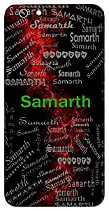 Samarth (Lord Krishna) Name & Sign Printed All over customize & Personalized!! Protective back cover for your Smart Phone : Samsung Galaxy Note-4