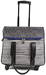 Hang Accessories 360 Wheel Camellia Tote - Black with Stripes
