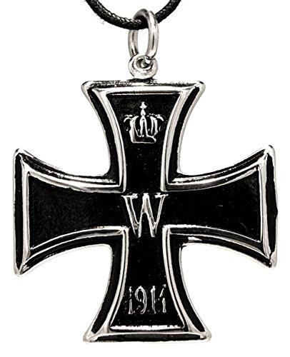 Orecchini a forma di croce 1813/1914 ciondolo in acciaio inox con cotone Band