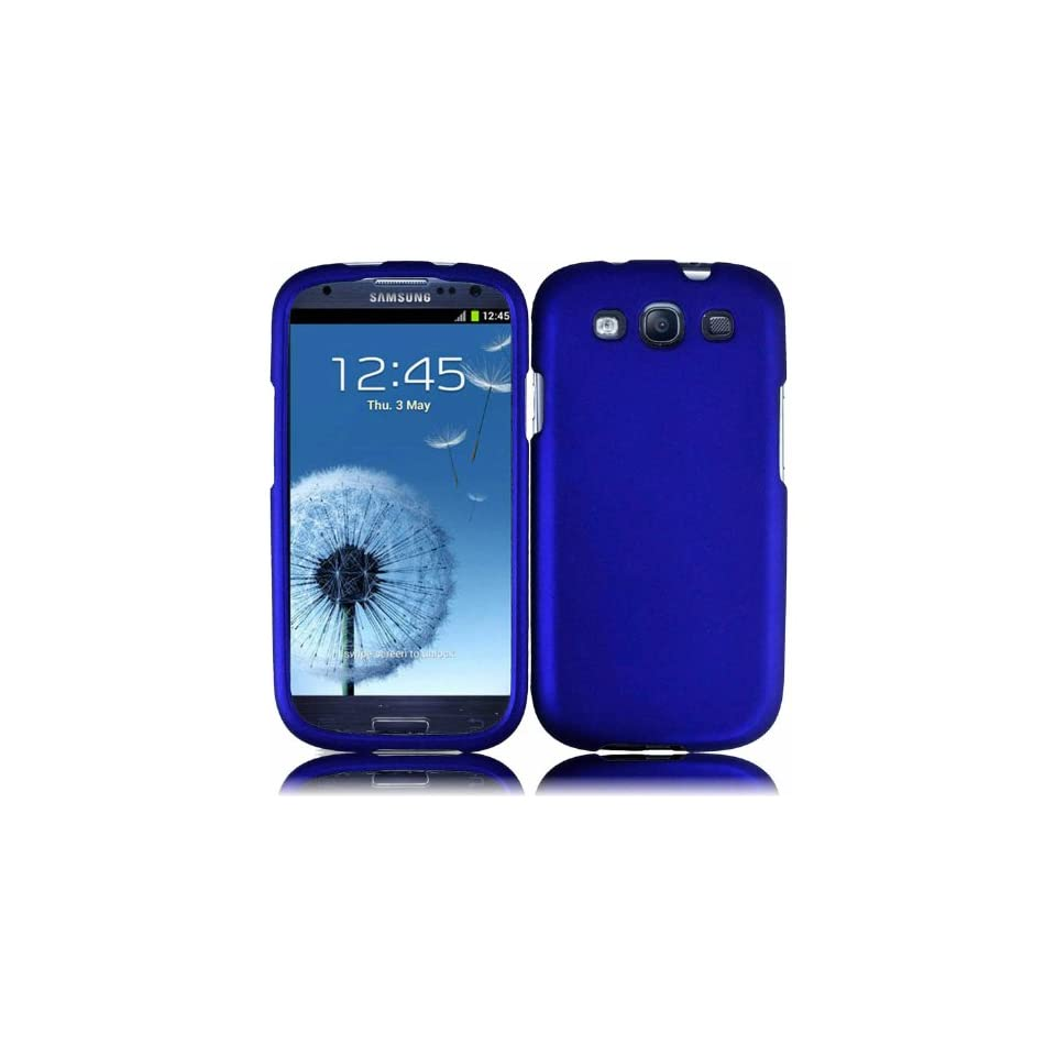 Blue Hard Case Cover for T Mobile Samsung Galaxy S 3 S3 III T999 Sprint Galaxy S3 L710