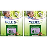 TWIN Pack of Moltex Nature No 1 Nappies (XL Size 6)