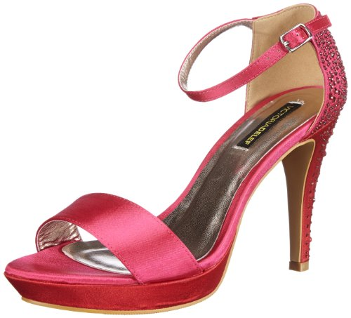 Victoria Delef SANDALS Ankle Womens Pink Pink (FUCSIA) Size: 6.5 (40 EU)