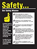 """Accuform Signs PST220 Safety Awareness Poster, """"SAFETY...OUR SAFETY MISSION"""", 24"""" Length x 18"""" Width, Laminated Flexible Plastic"""