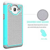 Galaxy On5 Case, SAUS Samsung Galaxy On 5 Case Cover Accessories - Shock-Absorption Dual Layer Defender Protective Case Cover For Samsung Galaxy On5 G550 (Mint/Grey)