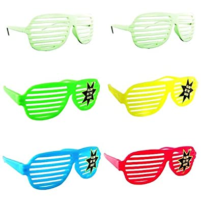 NEW KANYE SHUTTER SHADES HIP HOP SUNGLASSES MULTIPLE COLORS (6 Piece Glow in the Dark Set)