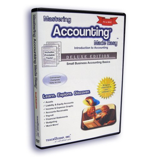 Mastering Accounting Made Easy Training Tutorial - Introductory Small Business Accounting e Book Manual Guide