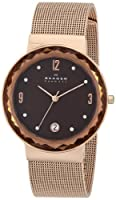 Skagen Women's SKW2068 Leonora Quartz 3 Hand Date Stainless Steel Rose Gold Watch from Skagen