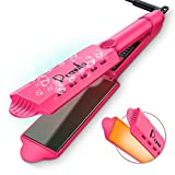Hair Straightener, Pomufa Professional Heat Flat Iron Hair Straightener with Anti-Static Ceramic Technology
