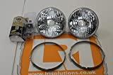 Land Rover Defender crystal upgrade headlight, bezel + bulbs kit 90/110 pair