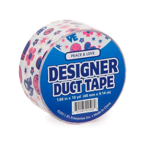 Just for Laughs Peace & Love Designer Duct Tape (10-Yard)