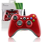 Wired USB Joypad Game Controller for MICROSOFT Xbox 360 & PC Windows-Red by MarioRetro