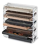 Acrylic Palette Organizer (Standard Size) & Beauty Care Holder Provides 8+ Space Storage | By Alegory (Clear)