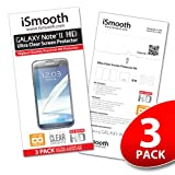 Samsung Galaxy Note 2 Screen Protector - NEW 2013 Ultra Premium HD Version - 3 PACK Ultra Clear - iSmooth - Free Lifetime Replacement Guarantee - Bubble Free Installation Guaranteed - Package Includes BONUS Premium Microfiber Cleaning Cloth, Two (2) Dust Removal Stickers, Installation Tips with Video, and Three (3) Ultra Clear Screen Protectors