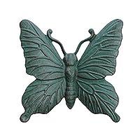 Verdigris Cast Iron Butterfly Wall Mountable Garden Ornament by Gardens2you