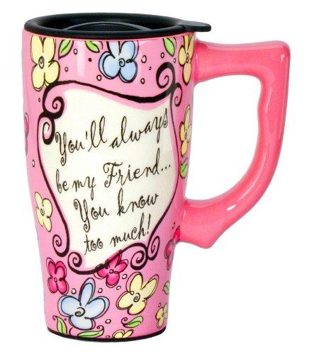 Spoontiques Friend Travel Mug, Pink