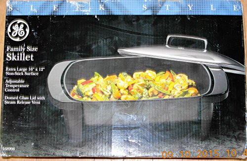 General Electric 168998 16 Inch Electric Skillet with Glass Cover