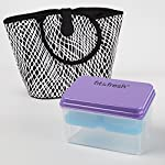 Tulsa Insulated Ladies Lunch Bag Kit with Lunch on the Go - Black & White Fishnet