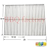 5S612 BBQ Stainless Steel Wire Cooking Grid Replacement for Select Brinkmann, Charmglow and Turbo Gas Grill Models, Set of 2