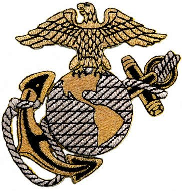 US Marine Corps Embroidered Patch USMC Military Eagle Anchor Globe Logo Iron-On Emblem