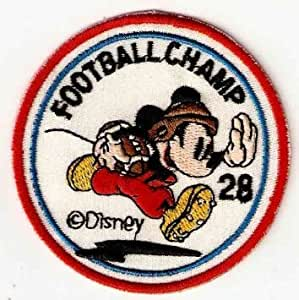 Amazon.com: Mickey Mouse Football Champ Patches 7x7 Cm